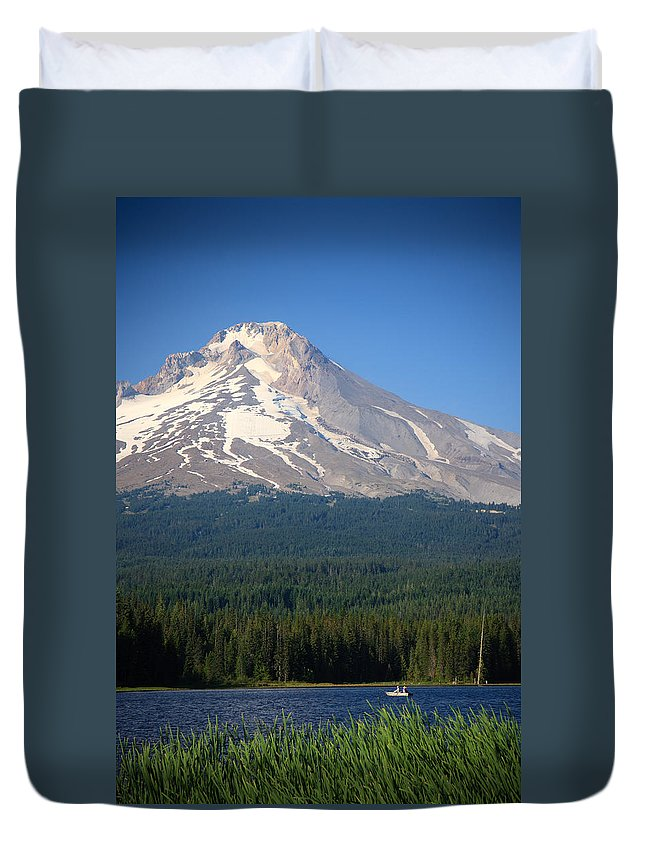 America Duvet Cover featuring the photograph A Perfect Day For Fishing by Karen Lee Ensley