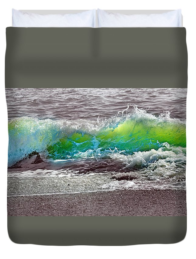 Ocean Duvet Cover featuring the photograph A Perfect Ending by Betsy Knapp