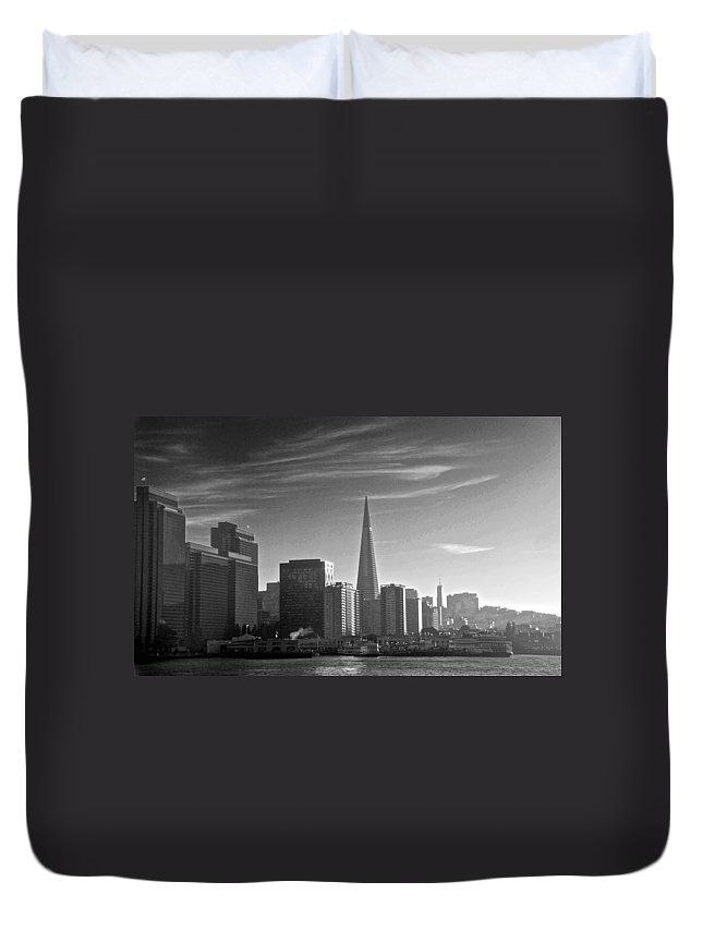 San Francisco Duvet Cover featuring the photograph A Place To Leave Your Heart by Eric Tressler