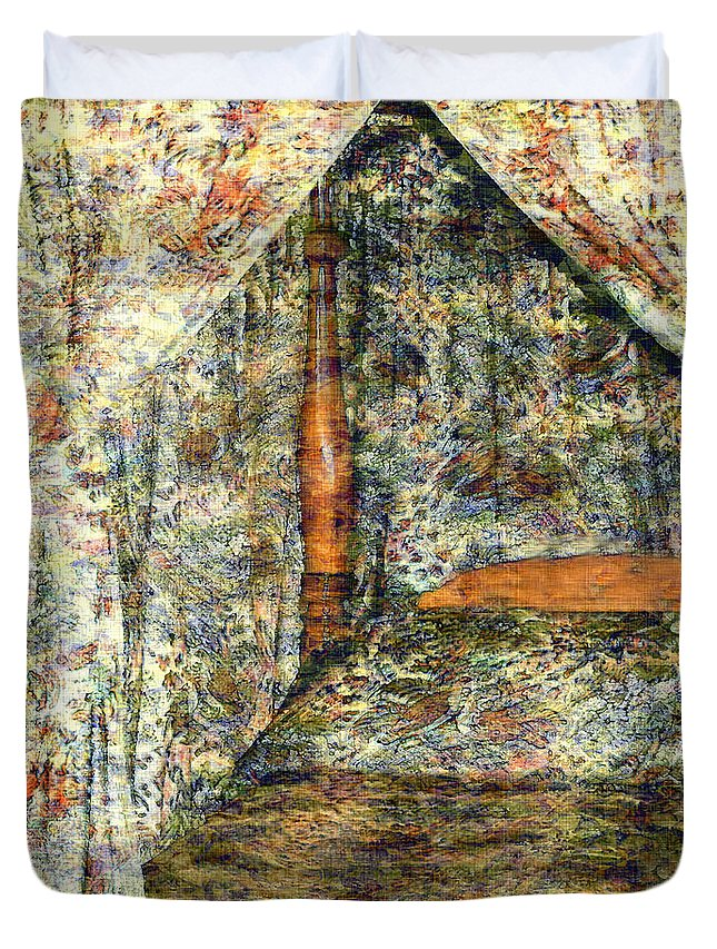 Antiques Duvet Cover featuring the painting A Profusion Of Chintz by RC DeWinter