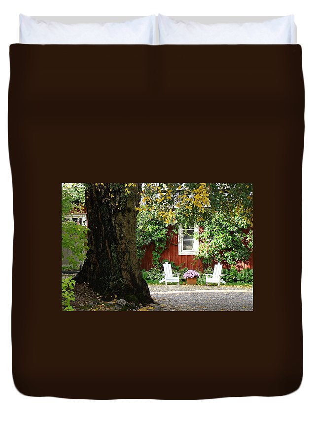 Porvoo Finland Duvet Cover featuring the photograph A Relaxing Finnish Afternoon by Richard Rosenshein