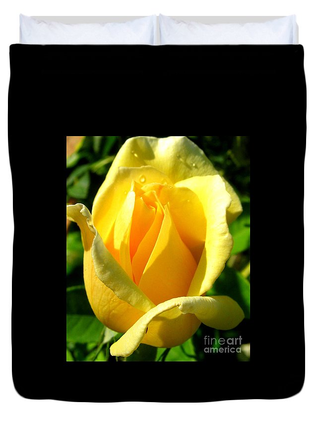 Landscape Duvet Cover featuring the photograph A Rose For My Friend by Janice Westerberg