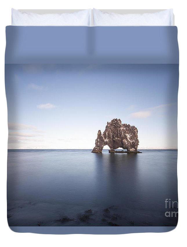 Hvitserkur Duvet Cover featuring the photograph A Sea Of Thirst by Evelina Kremsdorf