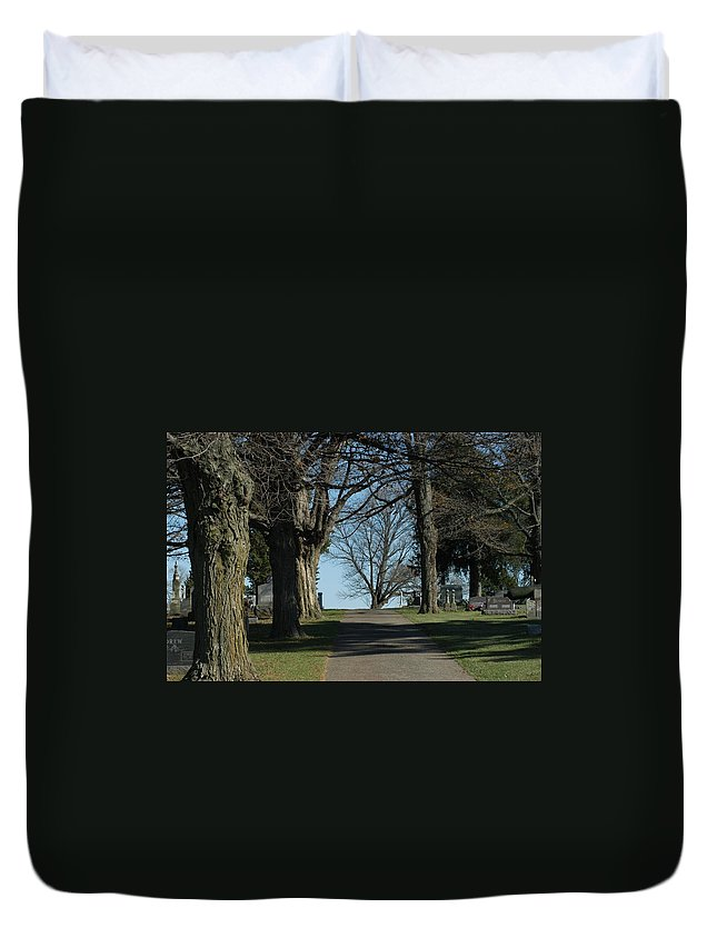 Cemetery Duvet Cover featuring the photograph A Shared Vision by Joseph Yarbrough