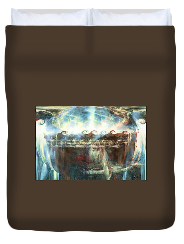 Special World Duvet Cover featuring the digital art A Special World by Linda Sannuti