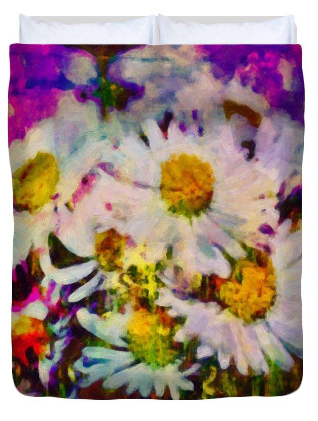 Www.themidnightstreets.net Duvet Cover featuring the digital art A Splash Of Spring by Joe Misrasi
