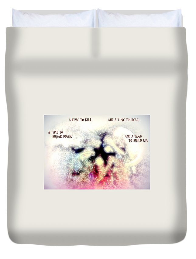 Stone Duvet Cover featuring the photograph There Is A Time To Kill And A Time To Break Down by Hilde Widerberg