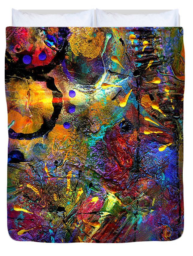 Acrylic Duvet Cover featuring the mixed media A Valentine For My Man by Angela L Walker