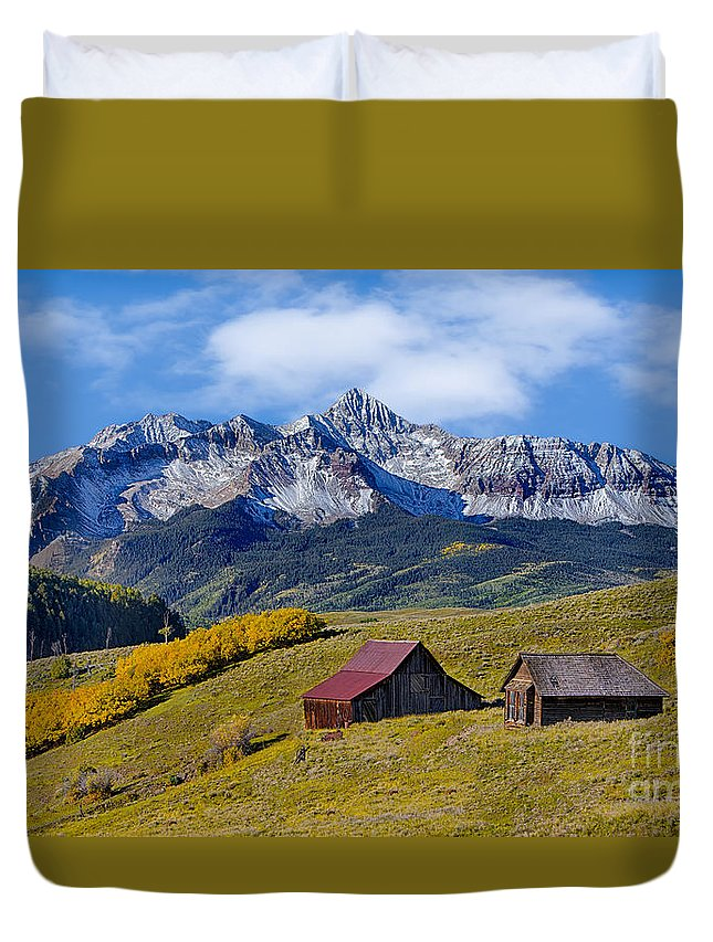 Colorado Duvet Cover featuring the photograph A View From Last Dollar Road by Jerry Fornarotto