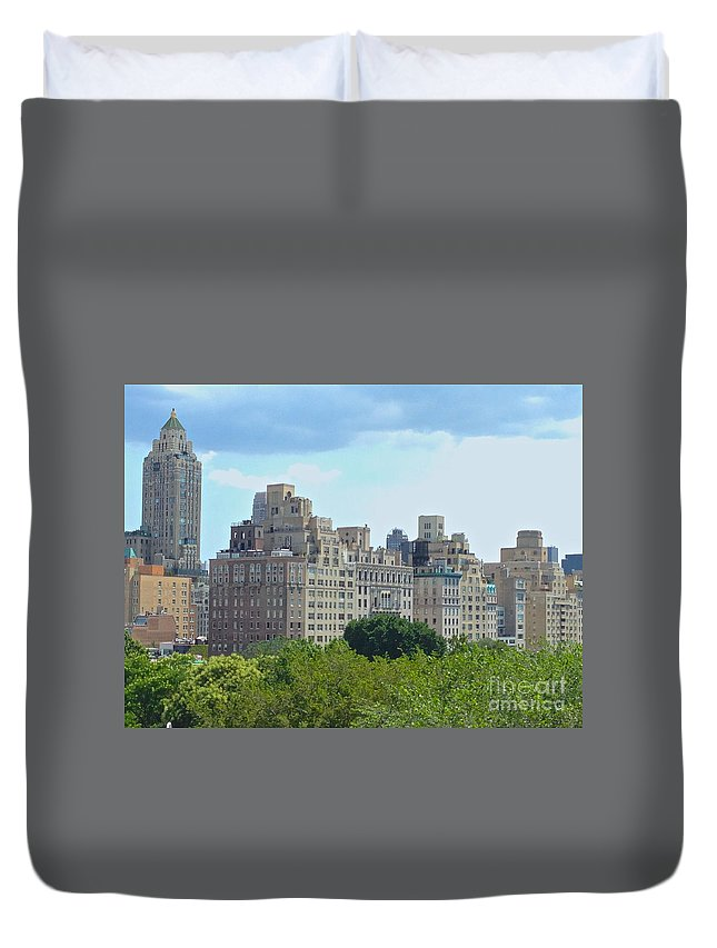 Met Duvet Cover featuring the photograph A View From The Met by Christy Gendalia