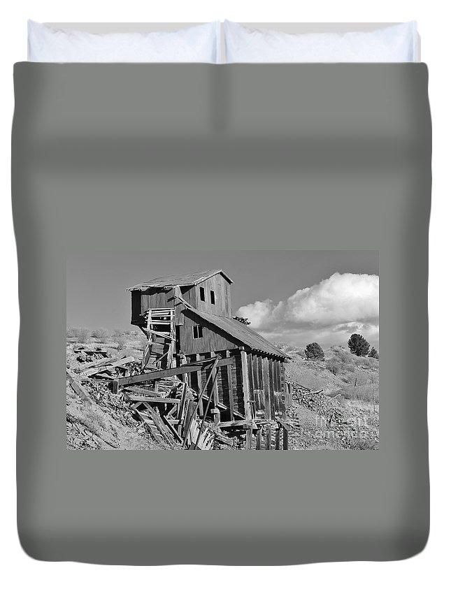 History Duvet Cover featuring the photograph A Walk Through Time by Tonya Hance