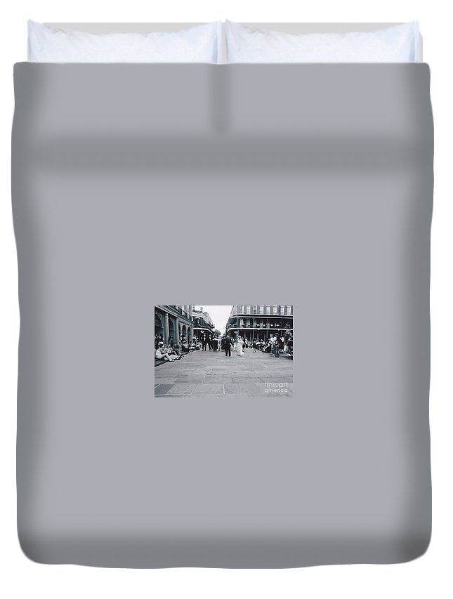 Church Duvet Cover featuring the photograph A Wedding In Jackson Square by Michelle Powell