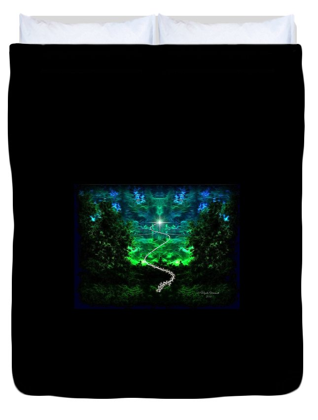 Forest Duvet Cover featuring the photograph A Whimsical Forest by Majula Warmoth