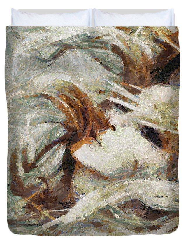 Www.themidnightstreets.net Duvet Cover featuring the painting A Wild Dance by Joe Misrasi