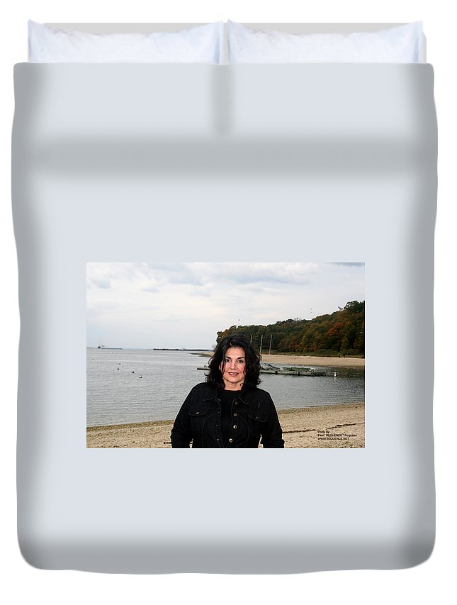 Duvet Cover featuring the photograph A Windy Day by Paul SEQUENCE Ferguson       sequence dot net