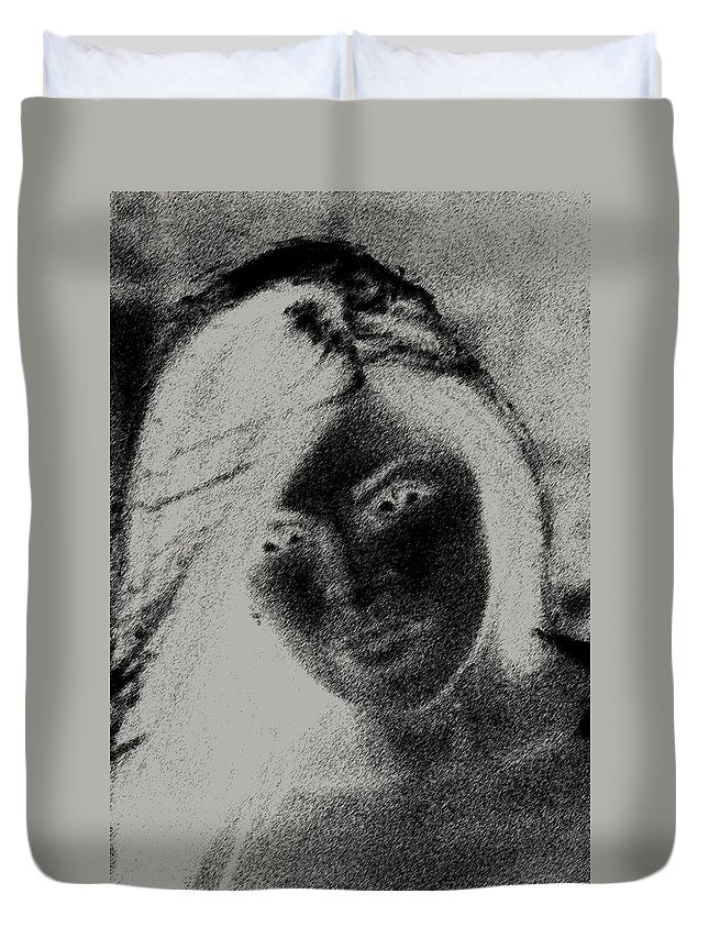 Women Duvet Cover featuring the photograph A Women by Jes Fritze