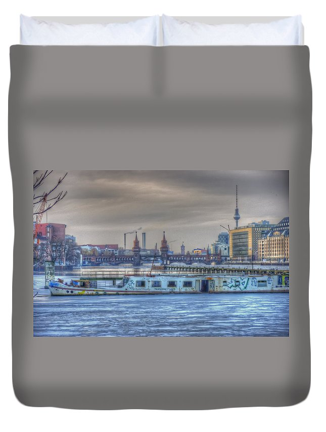 Architecture Digital Art Duvet Cover featuring the digital art Abandon Ship by Nathan Wright