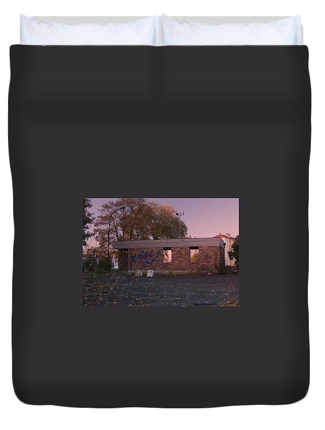 Abandoned Duvet Cover featuring the photograph Abandoned Building In France by Miguel Winterpacht