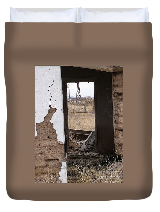 Lela Becker Duvet Cover featuring the photograph Abandoned In Texas by LeLa Becker