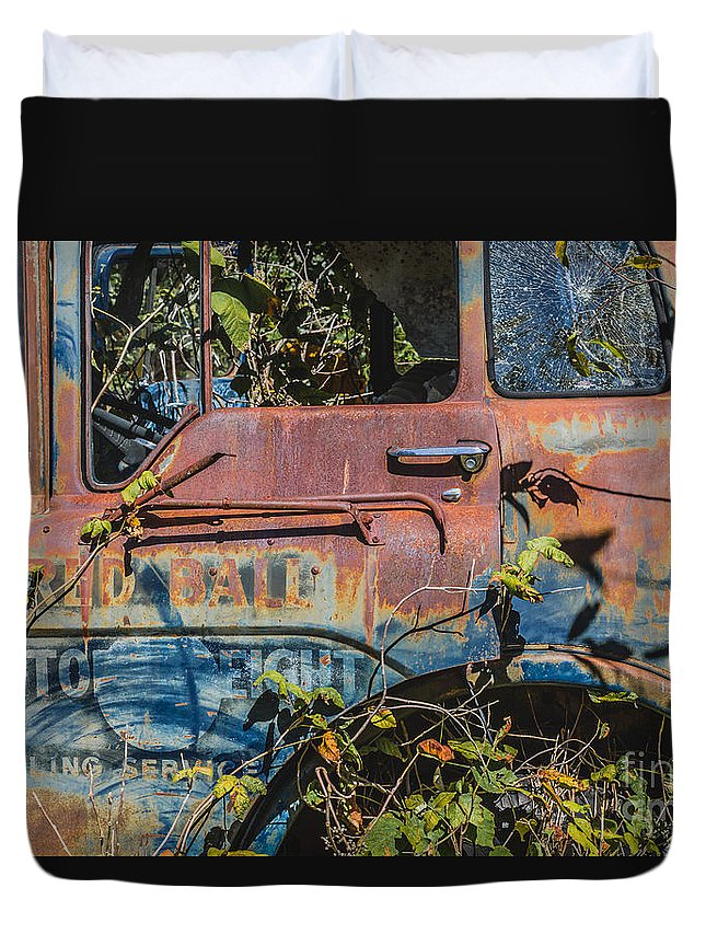 Abandoned Duvet Cover featuring the photograph Abandoned Truck by Ashley M Conger