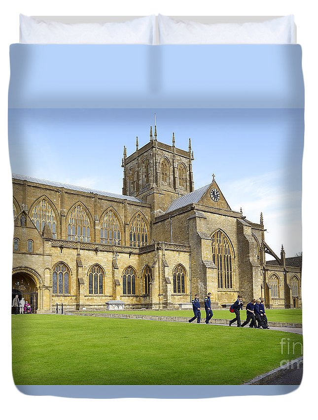 Abbey Duvet Cover featuring the photograph Abbey Life by Doug Wilton