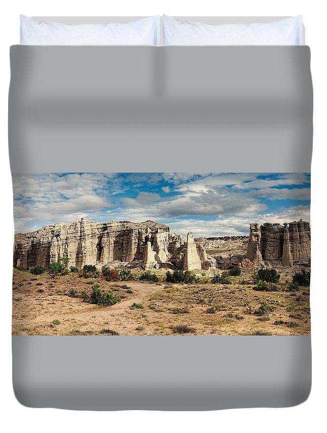 Plaza Blanca Duvet Cover featuring the photograph Abiquiu New Mexico Plaza Blanca In Technicolor by Silvio Ligutti