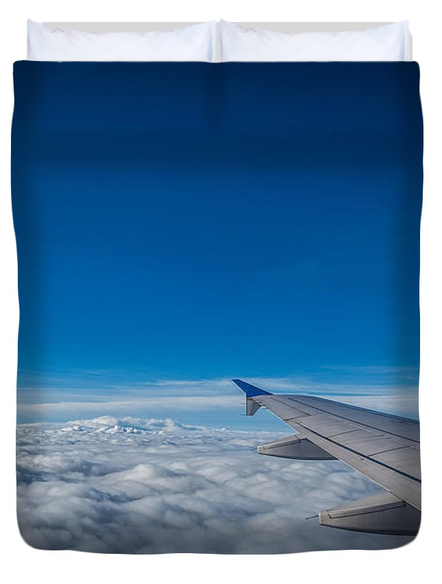 Above The Clouds Duvet Cover featuring the photograph Above The Clouds by Michael Ver Sprill
