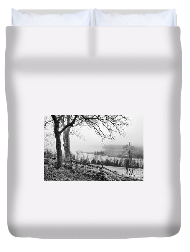 Photography Duvet Cover featuring the photograph Above The Creek by Susan Smith