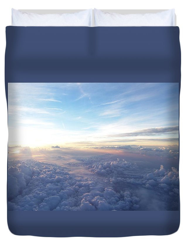 Plane Duvet Cover featuring the photograph Above The Earth by Two Bridges North