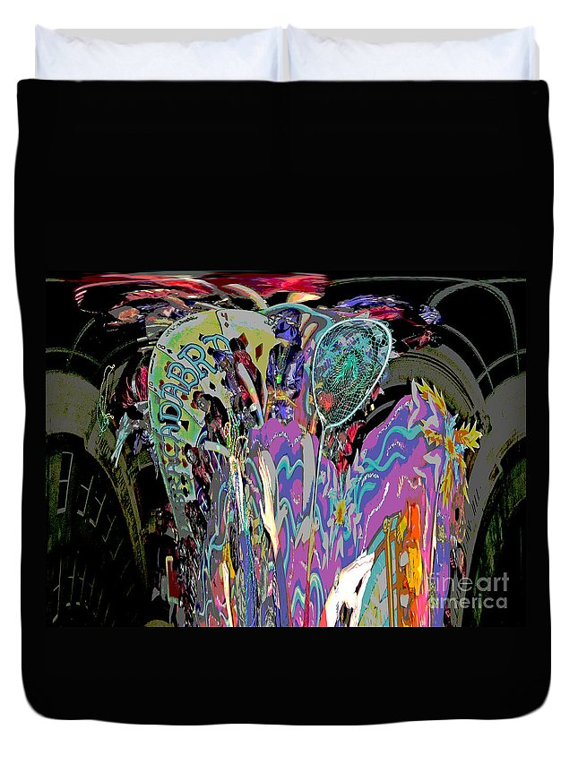 Abstract Duvet Cover featuring the photograph Abracadabra Abstract by Marian Bell