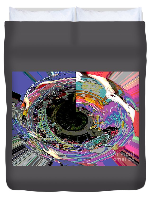 Abstract Duvet Cover featuring the photograph Abracadabra Hocus-pocus by Marian Bell