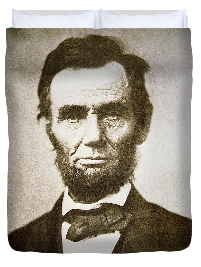 Abraham Duvet Cover featuring the photograph Abraham Lincoln by Alexander Gardner