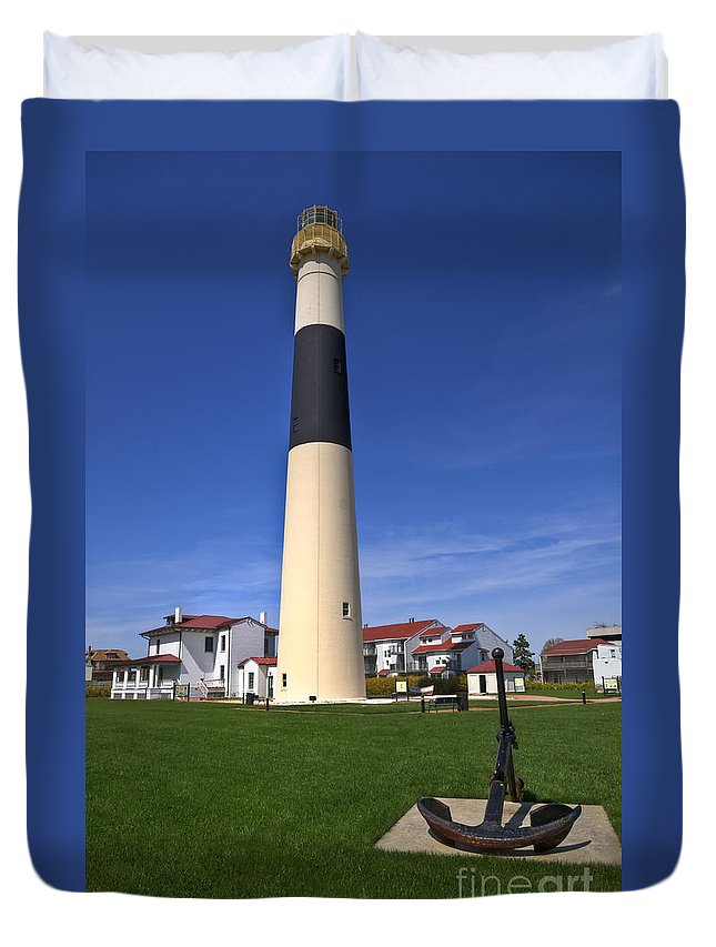 Lighthouse Duvet Cover featuring the photograph Absecon Lighthouse by Anthony Sacco