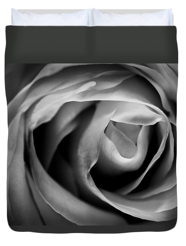 Acrylic Duvet Cover featuring the photograph Absence Of Color by Jon Glaser
