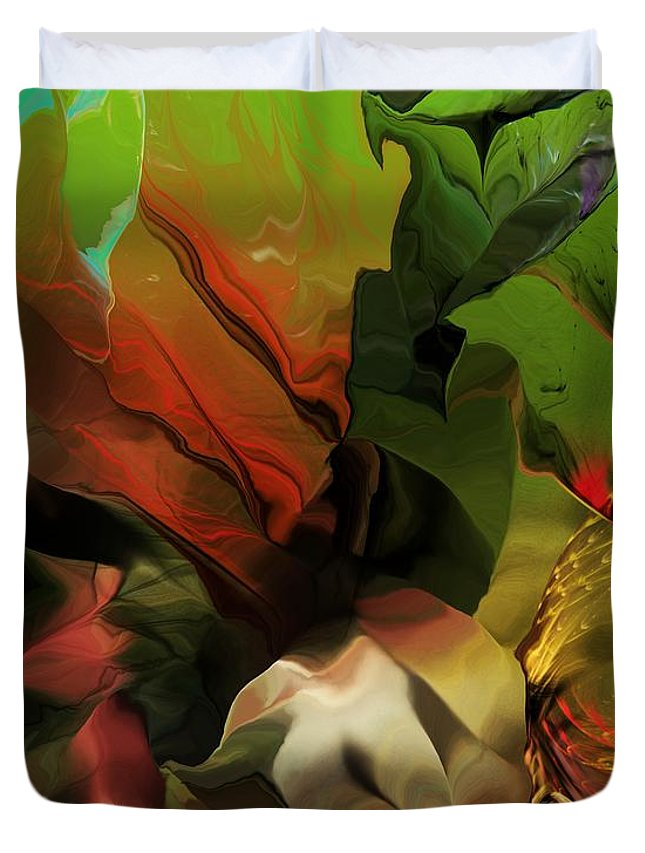 Fine Art Duvet Cover featuring the digital art Abstract 050713 by David Lane