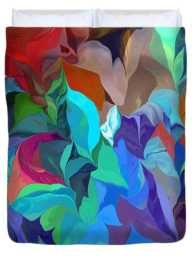 Abstract Duvet Cover featuring the digital art Abstract 062713 by David Lane