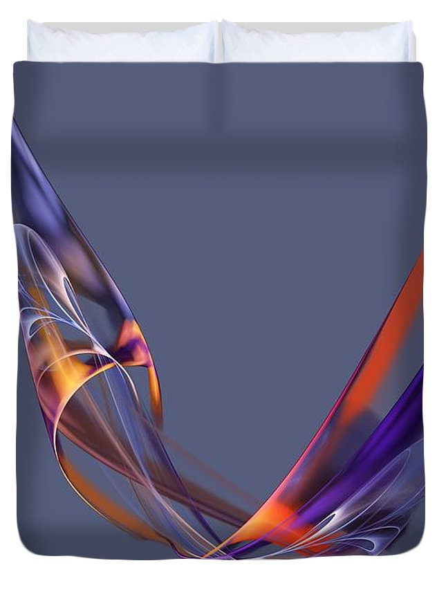 Fine Art Duvet Cover featuring the digital art Abstract 111913 by David Lane
