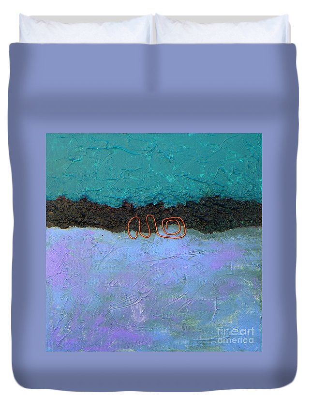 Abstract Expressionism Duvet Cover featuring the painting Abstract #128 by Donna Frost