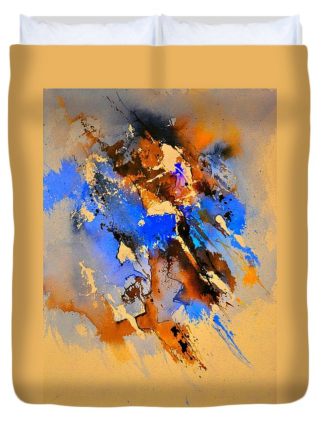 Abstract Duvet Cover featuring the painting Abstract 4110212 by Pol Ledent