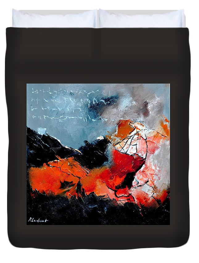 Abstract Duvet Cover featuring the painting Abstract 553101 by Pol Ledent