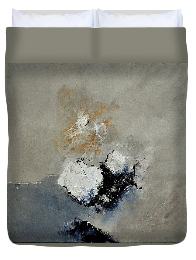 Abstract Duvet Cover featuring the painting Abstract 6631101 by Pol Ledent