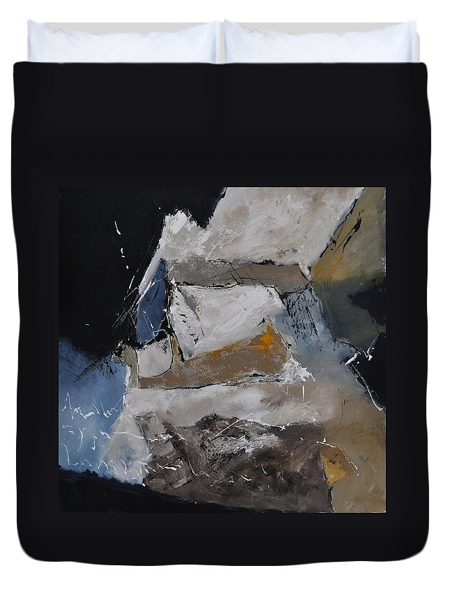 Abstract Duvet Cover featuring the painting Abstract 8831102 by Pol Ledent