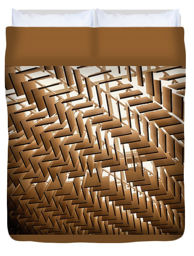 Material Duvet Cover featuring the photograph Abstract Architectural Pattern by Lena serditova