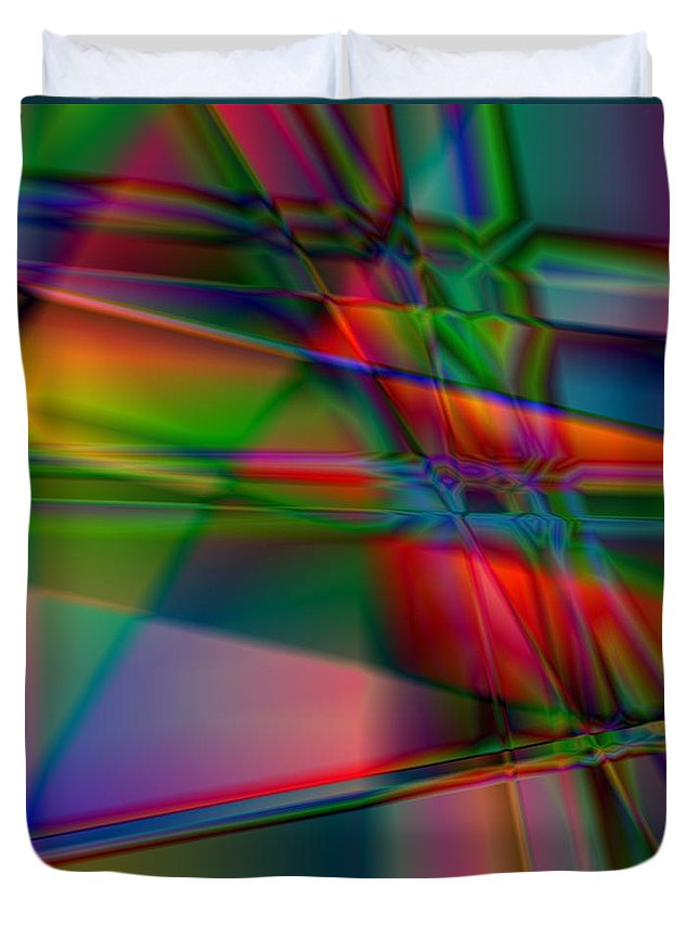 Abstract Duvet Cover featuring the photograph Lineage - Square Abstract Print by Nikki Vig