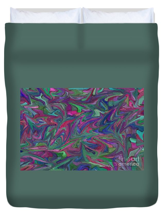 Abstract Duvet Cover featuring the photograph Juncture - Abstract Art by Nikki Vig