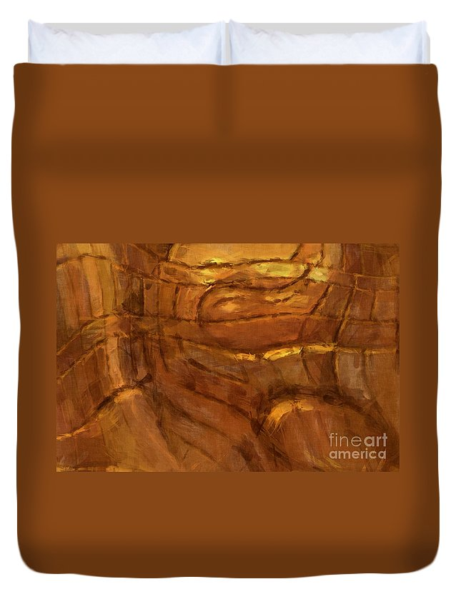 Abstract Duvet Cover featuring the photograph Behold - Abstract Art by Nikki Vig