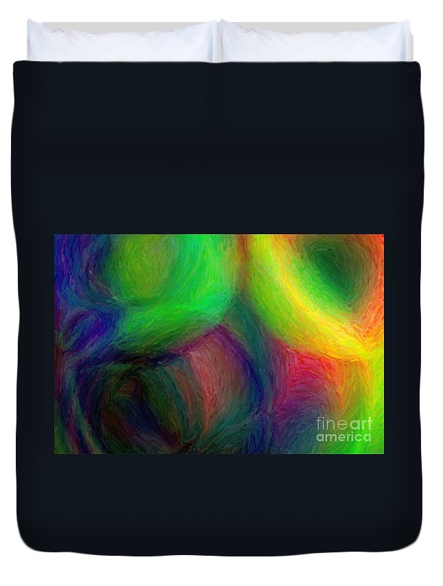 Abstract Duvet Cover featuring the photograph Journey - Abstract Art by Nikki Vig