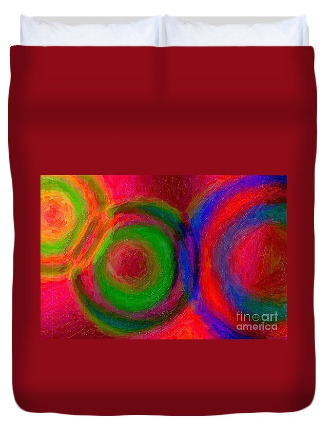Abstract Duvet Cover featuring the photograph Separate Yet Together - Abstract Art by Nikki Vig