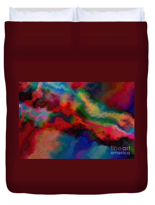 Abstract Duvet Cover featuring the photograph Intrigued - Abstract Art by Nikki Vig