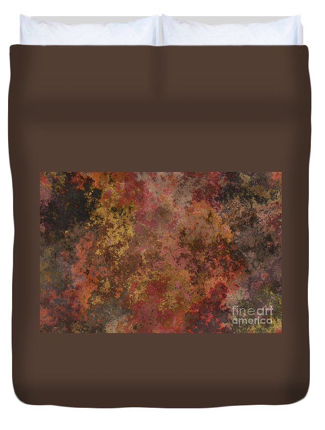 Abstract Duvet Cover featuring the photograph Mend - Abstract Art by Nikki Vig